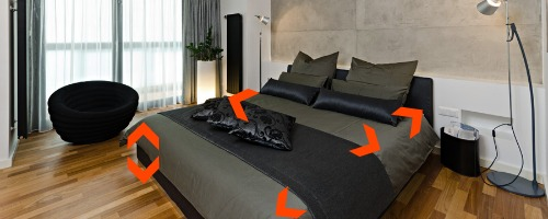 postel rozměry a design